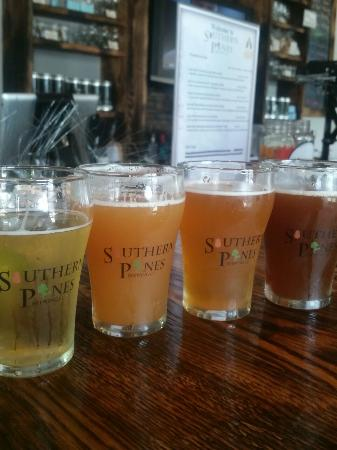 Southern Pines, NC: Flight of beer