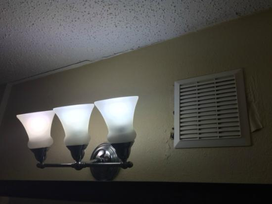 Nonworking Bathroom Fan Sloppy Drywall Repair Picture Of - Bathroom drywall repair
