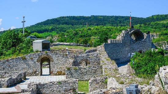 Lovech, Bulgaria: Looking into the fort from the battlements