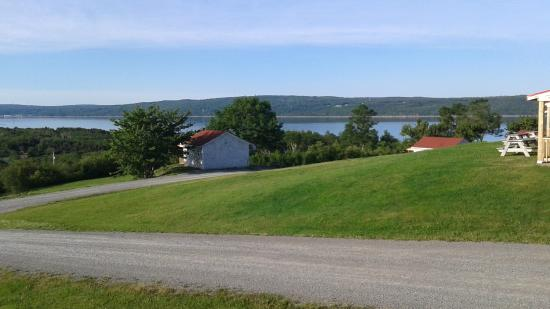 Chisholm's of Troy Coastal Cottages: view from the porch of our cottage