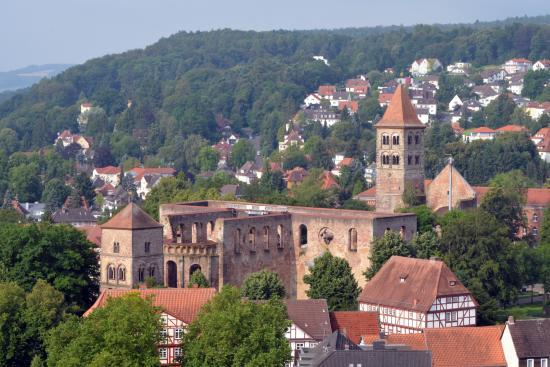 Bad Hersfeld, Germany: Die Stiftsruine: Vom Turm der Stadtkirche aus gesehen.
