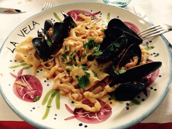 La Vela : Pasta fagioli e cozze