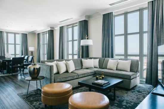 Marriott St. Louis Grand: Luxuriate In Our Redesigned Presidential Suite  With Living Room