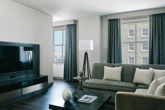 Our Chairmans Suite With Living Room Features An Incredible View Picture Of Marriott St Louis Grand Saint Louis Tripadvisor
