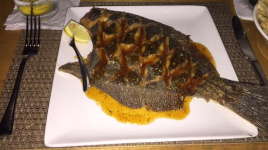 Cola's Restaurant : Huge Flounder, and so good!!