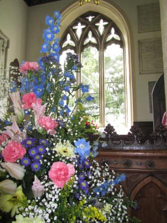 Moreton, UK: Floral Display in the Church