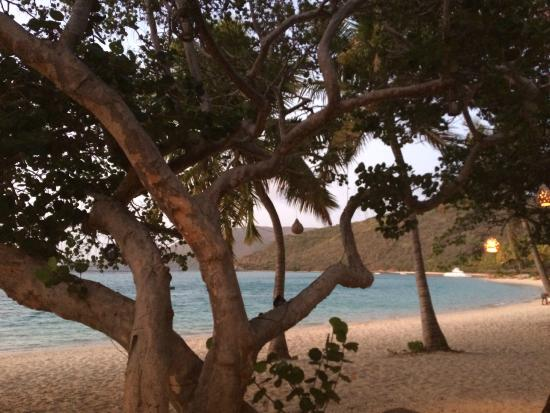 The Sugar Mill @ Little Dix Bay Resort : View From Our Table at The Sugar Mill LDB