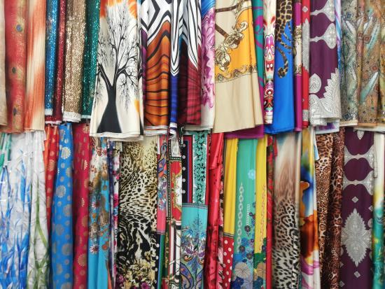 Assaluyeh, Iran: fabric store-Asaluyeh