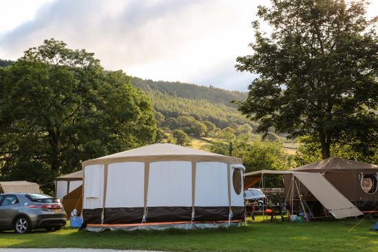 Appletreewick, UK: Ready erected tents