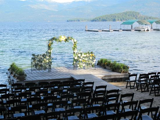 Priest Lake, ID: Lakeside weddings on the beach September - June