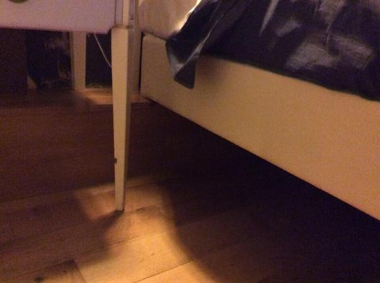 Furniture Legs Edinburgh legs on base of bed and legs on back of bedside cabinet cut off
