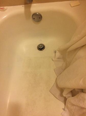 Baymont Inn & Suites Pensacola: Dirt stained tub floor was grimy