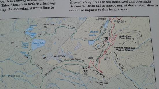 Chain Lakes loop trail map - Picture of Chain Lakes Loop, Bellingham ...