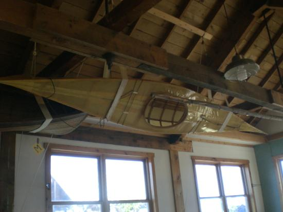 North House Folk School: Kayak in the ceiling