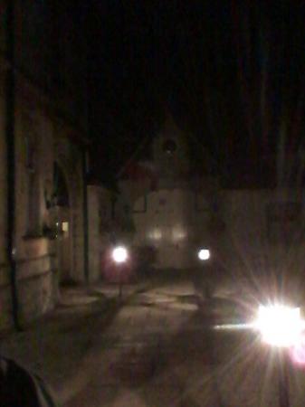 Fieldways Hotel & Health Club: Pathway by night
