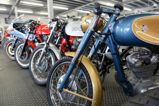 Over 60 bikes are on display at the Powerhouse Motorcycle Museum