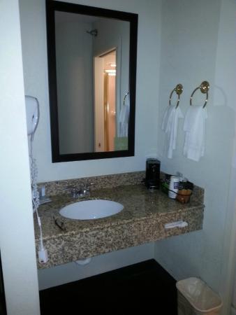 Sleep Inn: sink area in the room