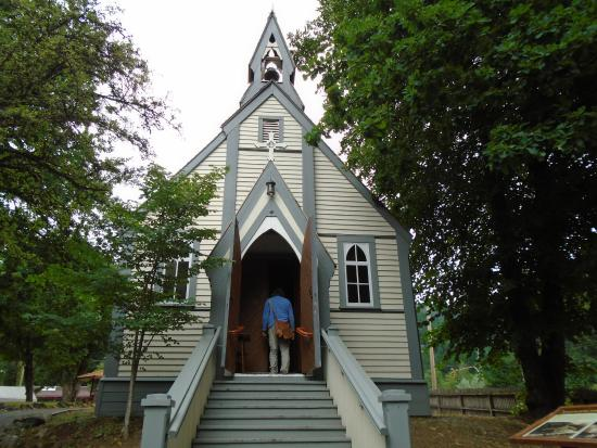 Yale Historic Site: one of BC's oldest churches still on orginal foundation