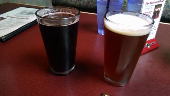 Masthead Restaurant: couple pints of beer