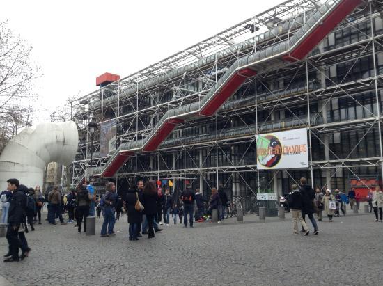 Paris, Frankrig: Frente del Centro Pompidou