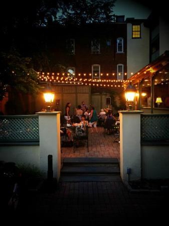 who knew about the backyard patio Dish at Lambertville House