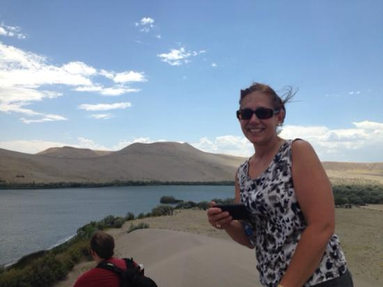 Bruneau, ID: At the top of the Little Dune.