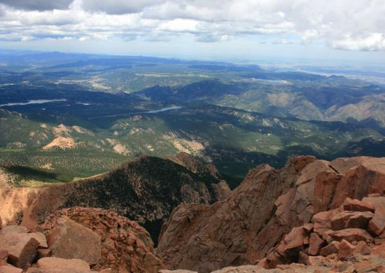 View from the top - Picture of Pikes Peak, Colorado ...