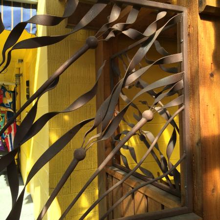 Cowichan Bay Seafood: Wrought Iron Grill Work