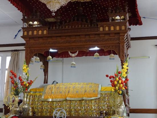 """Makindu, Kenya: Palki Sahib - Holy Book """"Guru Granth Sahib"""""""
