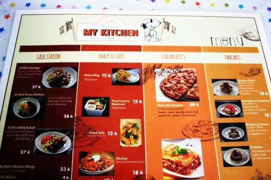 Menu Picture Of My Kitchen Malang Tripadvisor