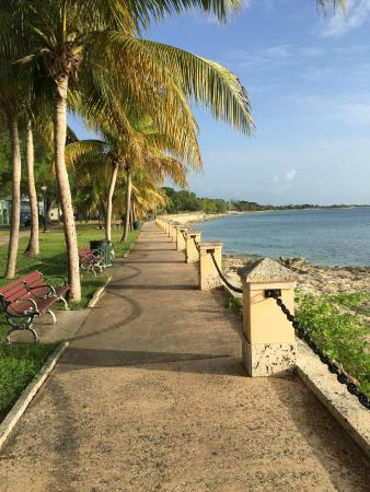 Sand Castle on the Beach : Ocean walk in Frederiksted