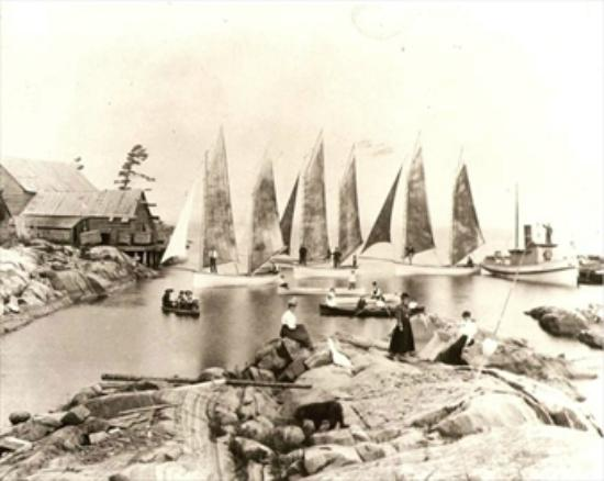‪‪French River‬, كندا: Bustard Islands, 1896, Fishing Station‬