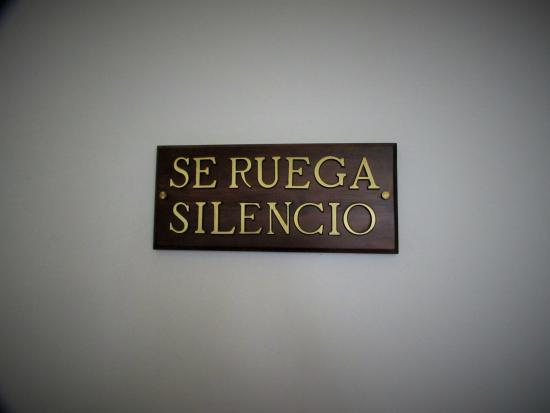 Hotel Monasterio de Piedra & Spa: se ruega silencio