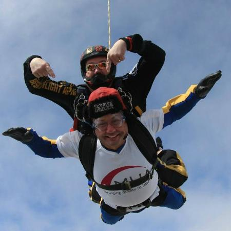 Skydive Langar: On the way down!