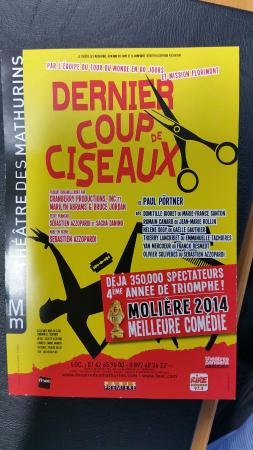 Dernier coup de ciseaux photo de th tre des mathurins paris tripadvisor - Theatre des mathurins dernier coup de ciseaux ...