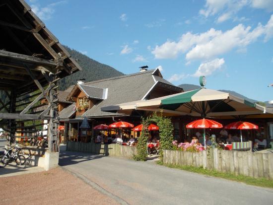 Techendorf, Austria: Die Terrasse