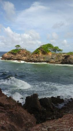 Galera Point - Toco Lighthouse: View from the Rocks at Galera Point Light HouseToco