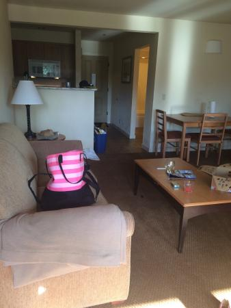 WorldMark Bend - Seventh Mountain Resort: 1bd condo. Could use more storage for food. We had to keep dry pantry items on counter. Also no