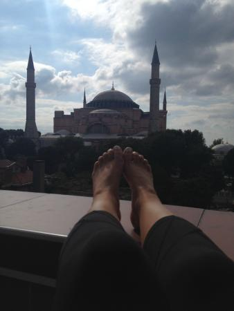 And Hotel: Hagia Sophia from my balcony