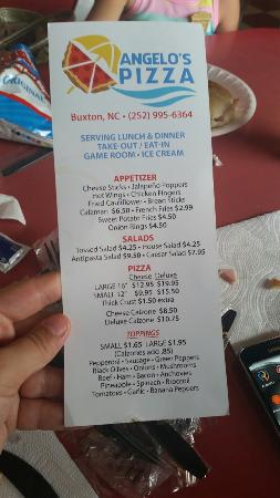 Angelo's Pizza : Menu, location, and pics of our food after we had already dug in!