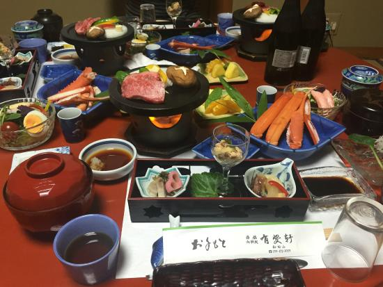 Yuhiken: Delicious and generous kaiseki dinner, included in the price of the room.