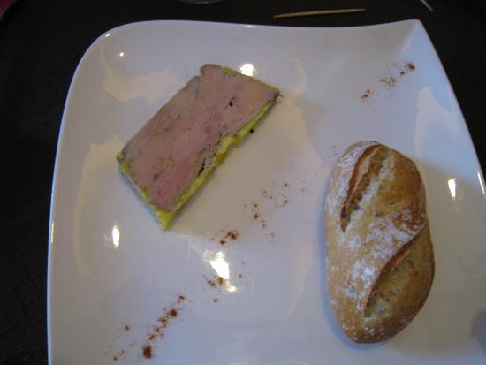 L'Atelier des Saveurs: Exemple de déco d'une entrée de foie gras fait maison