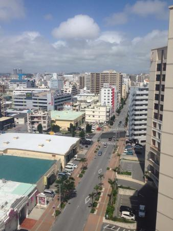 Loisir Hotel Naha: View from the hotel room's window. There is a mart within walking distance.