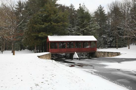 Simsbury, CT: Stratton Brook State Park's covered bridge