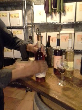 Hotchkiss, โคโลราโด: Yvon bottling some wine for us