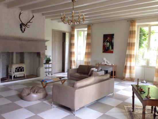 Chateau de la Houillere : salone