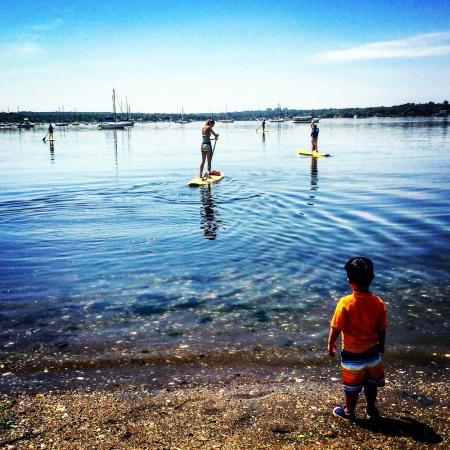Kostal Paddle Stand Up Boarding At In Port Washington