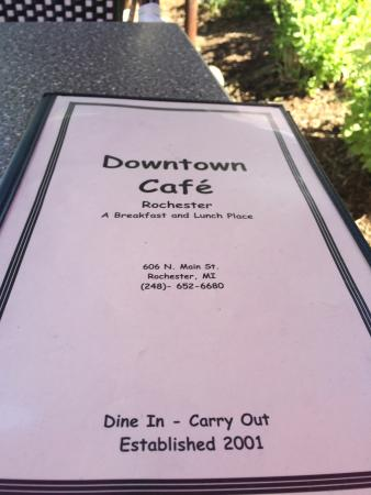 Downtown Cafe : Beautiful summer morning sipping European coffee outdoors in a slice of heaven