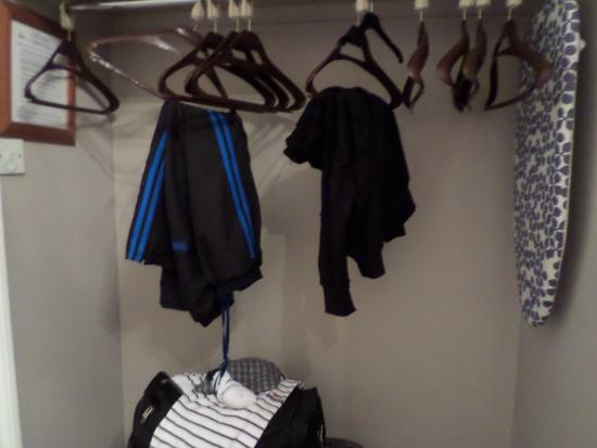 Warrens: hanging space for clothes