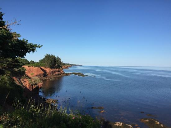 Cliffside Inn : View from the shore below the cliffs